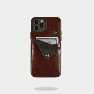 Bandolier Distressed Leather Wallet iPhone Case